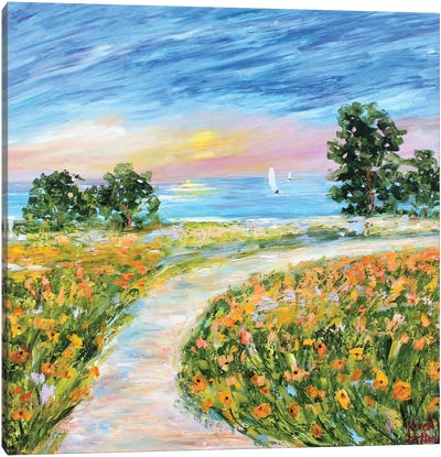 Coastal Poppies Canvas Art Print