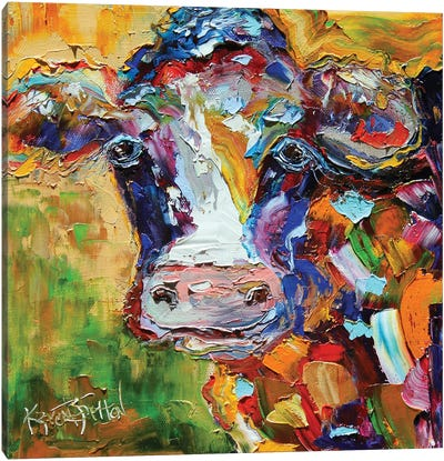 Colorful Cow I Canvas Art Print