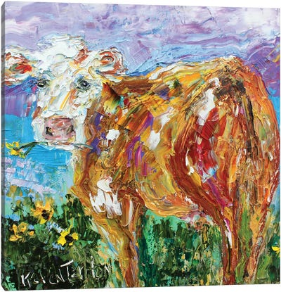 Country Cow Canvas Art Print