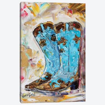 Cowyboy Boots Canvas Print #KRT54} by Karen Tarlton Canvas Artwork