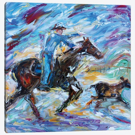 Coyboy Canvas Print #KRT55} by Karen Tarlton Canvas Artwork