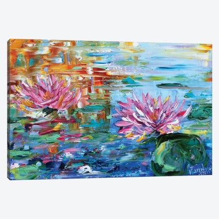 Dancing Light On The Lily Pond Canvas Print #KRT58} by Karen Tarlton Canvas Print