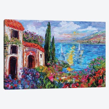 Amalfi Coast Canvas Print #KRT5} by Karen Tarlton Canvas Art