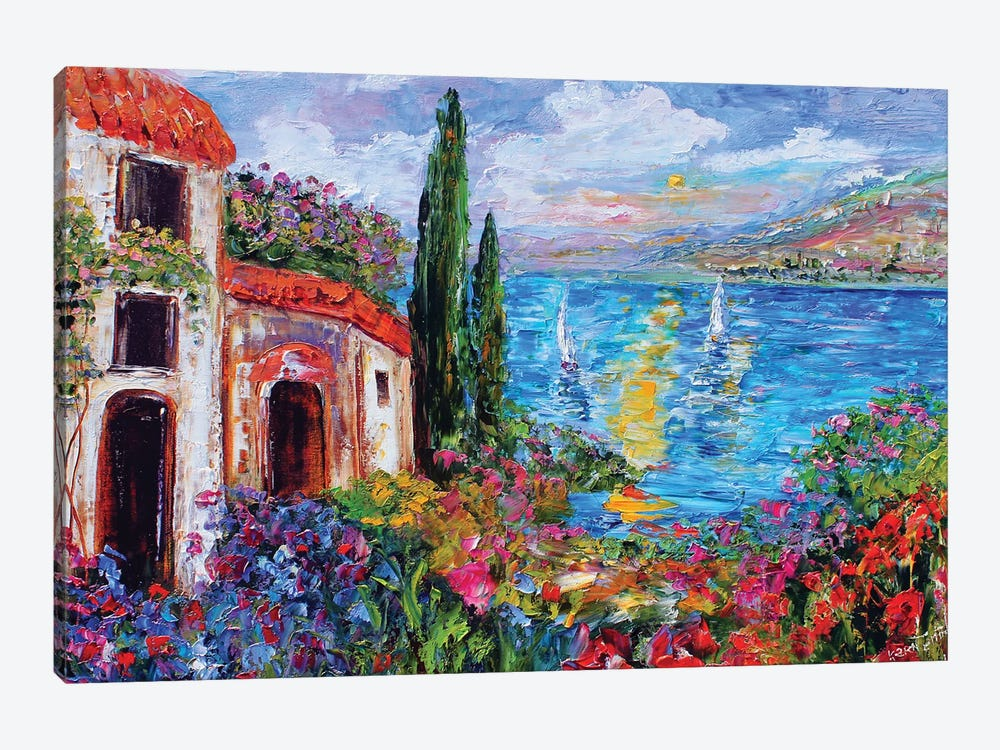 Amalfi Coast by Karen Tarlton 1-piece Art Print