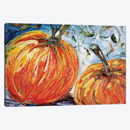 Fall Pumpkins Canvas Print #KRT63} by Karen Tarlton Canvas Wall Art