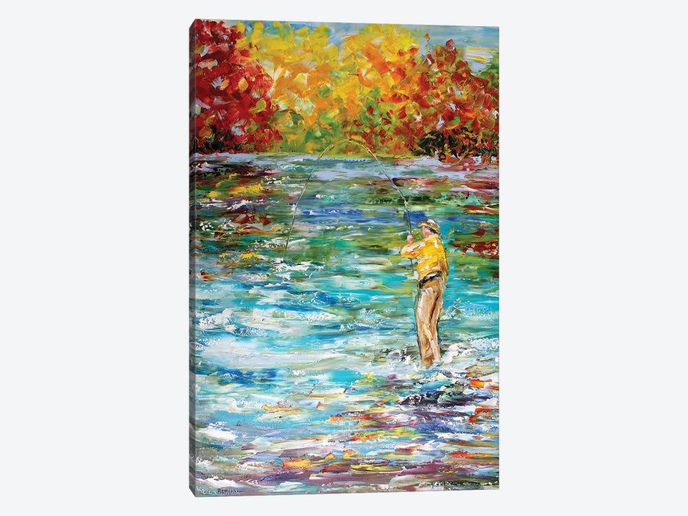 Fly Fishing by Karen Tarlton 1-piece Canvas Print