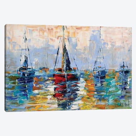 Harbor Boats Canvas Print #KRT72} by Karen Tarlton Canvas Art Print