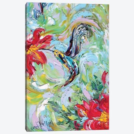 Hummingbird Giclee Native Resolution Canvas Print #KRT73} by Karen Tarlton Canvas Art Print