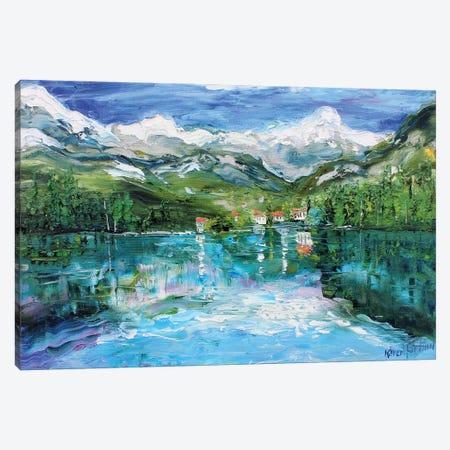 Italy Village Canvas Print #KRT74} by Karen Tarlton Canvas Art