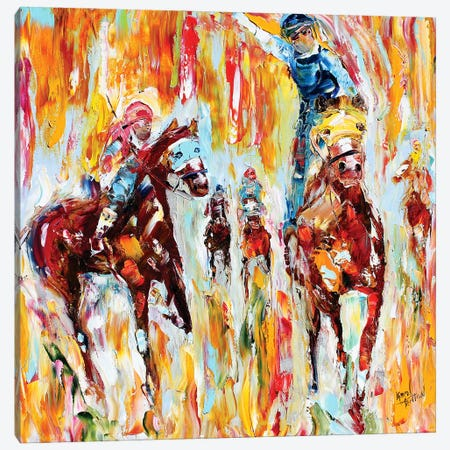 Kentucky Derby Thundering Hooves Canvas Print #KRT78} by Karen Tarlton Canvas Art Print