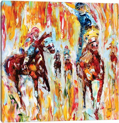 Kentucky Derby Thundering Hooves Canvas Art Print