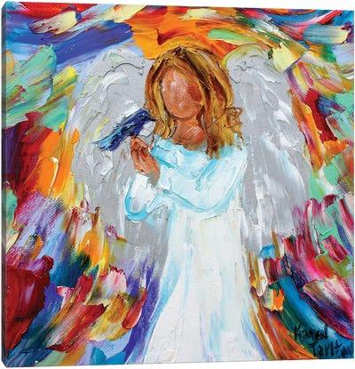 Angel And Bird Canvas Art Print