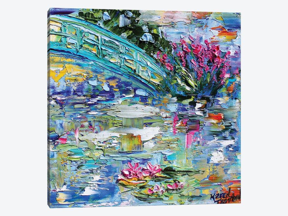 Lily Pond by Karen Tarlton 1-piece Canvas Artwork
