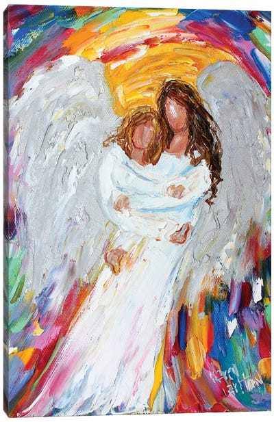 Angel And Child Canvas Art Print