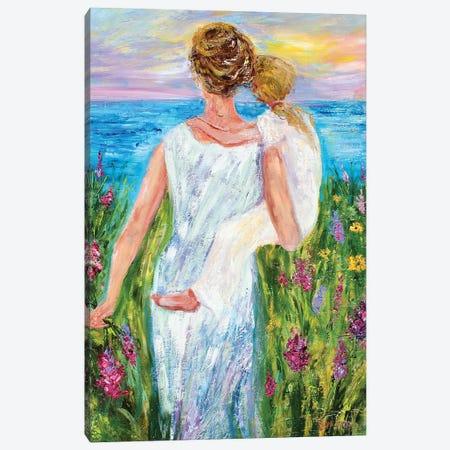 Mother And Daughter Canvas Print #KRT91} by Karen Tarlton Canvas Art Print