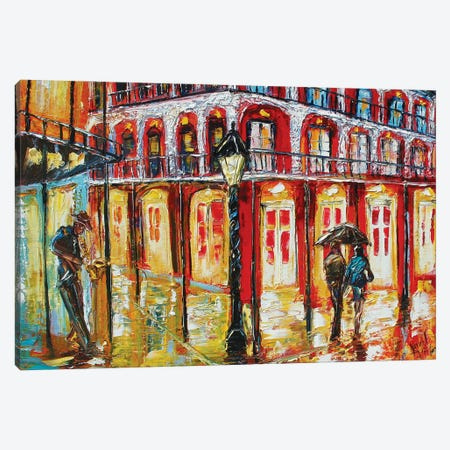 New Orleans French Quarter Canvas Print #KRT95} by Karen Tarlton Canvas Artwork