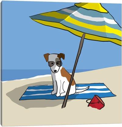Dog At Beach II Canvas Art Print