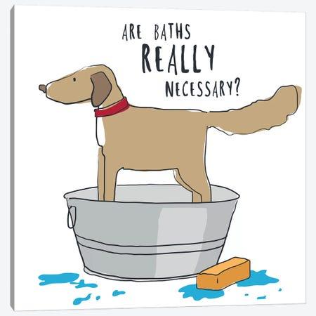Dog In Tub With Words Canvas Print #KRU106} by Kris Ruff Art Print