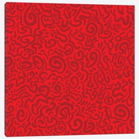 Graffiti Red Canvas Print #KRU112} by Kris Ruff Canvas Art Print