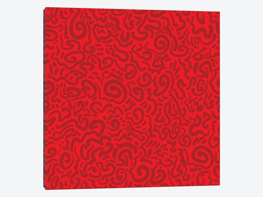 Graffiti Red by Kris Ruff 1-piece Canvas Art Print