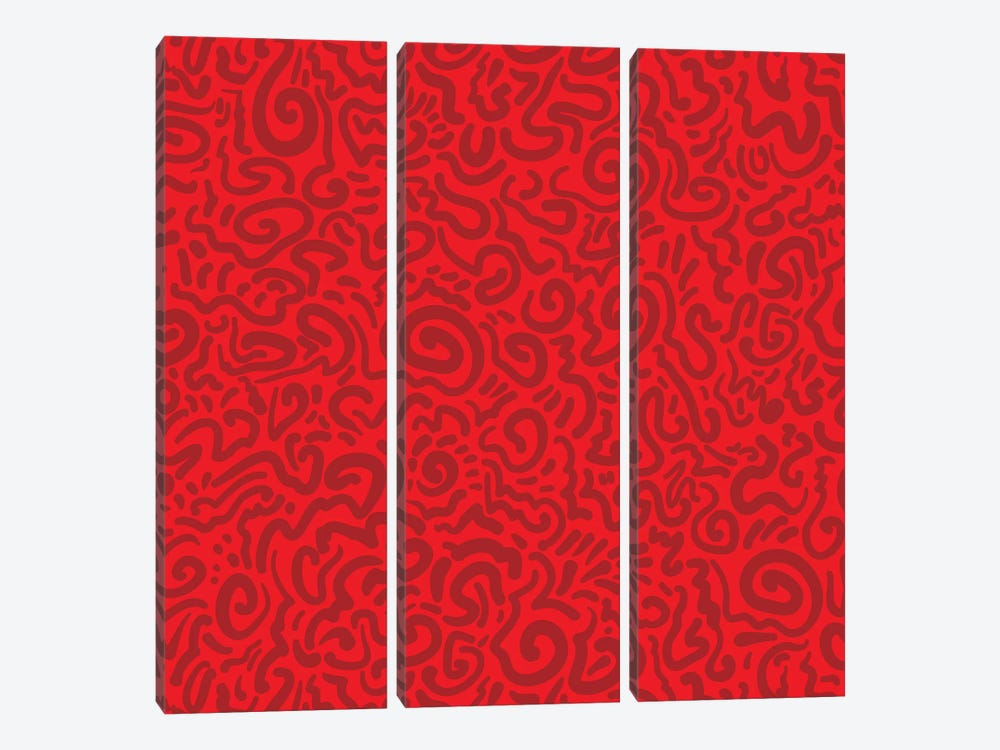 Graffiti Red by Kris Ruff 3-piece Art Print
