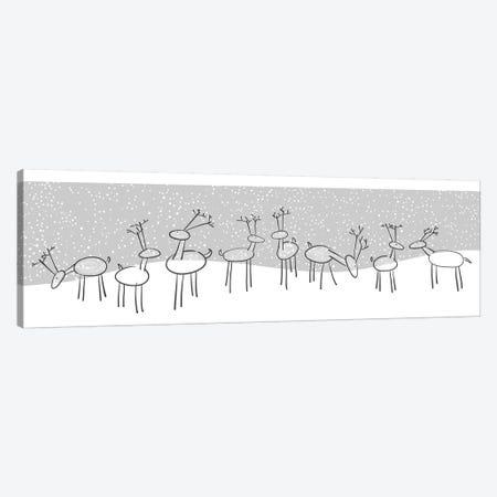 Reindeer Games Canvas Print #KRU120} by Kris Ruff Canvas Wall Art