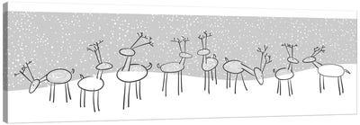 Reindeer Games Canvas Art Print