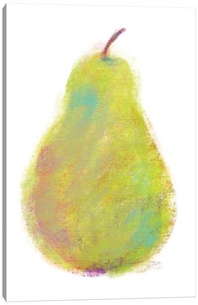 Chalk Pear Canvas Art Print