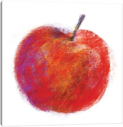 Chalk Apple Canvas Art Print