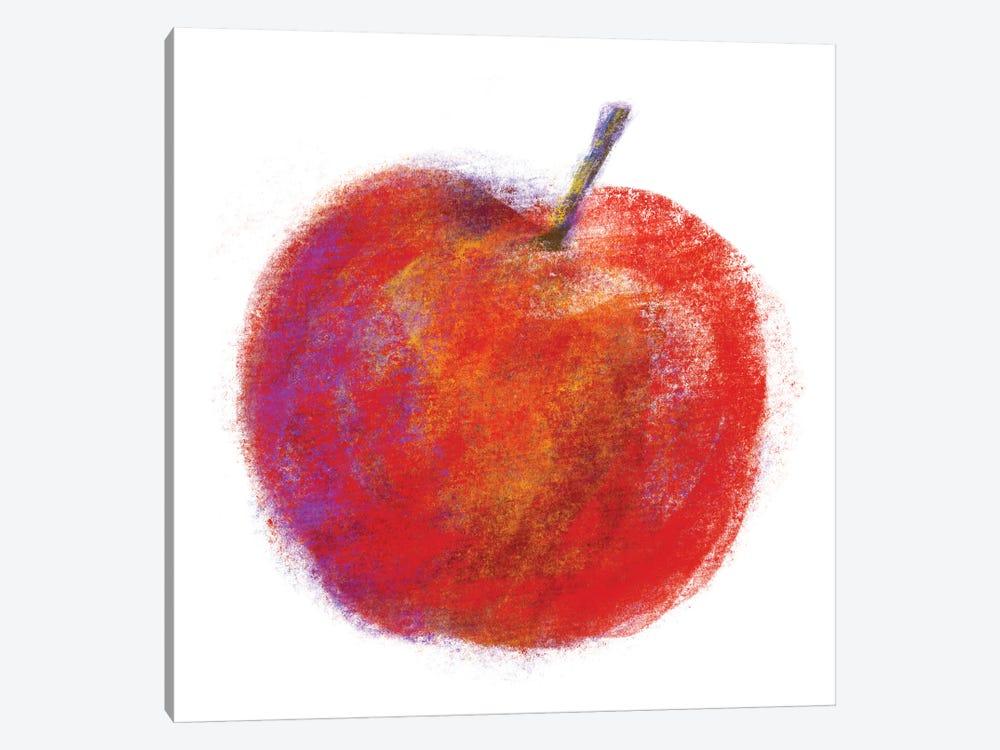 Chalk Apple by Kris Ruff 1-piece Canvas Wall Art