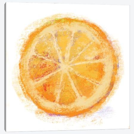 Chalk Orange Canvas Print #KRU127} by Kris Ruff Art Print