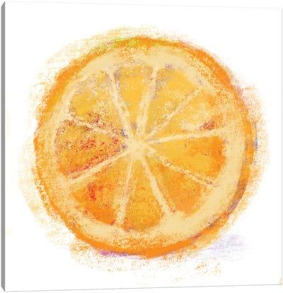 Chalk Orange Canvas Art Print