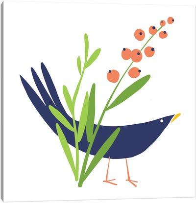 Spring Garden Bird I Canvas Art Print