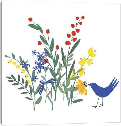 Spring Garden Bird II Canvas Art Print