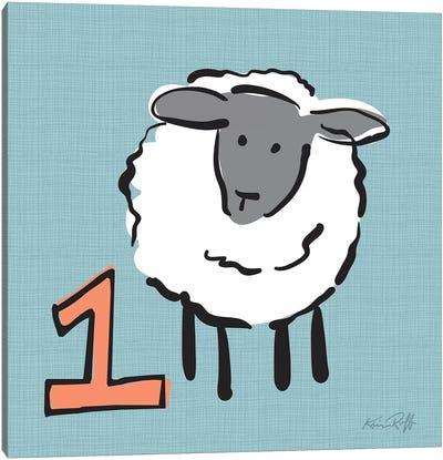 Counting Sheep I Canvas Art Print