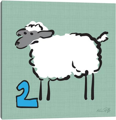 Counting Sheep II Canvas Art Print