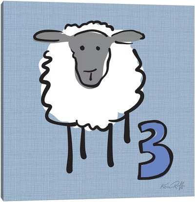 Counting Sheep III Canvas Art Print