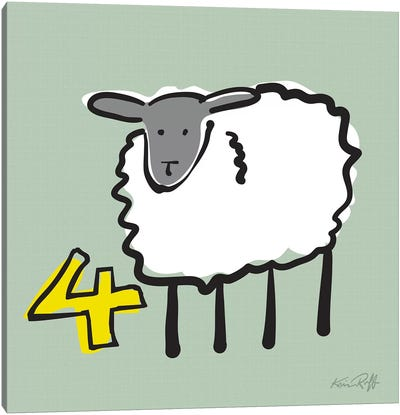 Counting Sheep IV Canvas Art Print