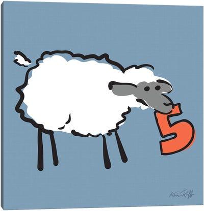 Counting Sheep V Canvas Art Print