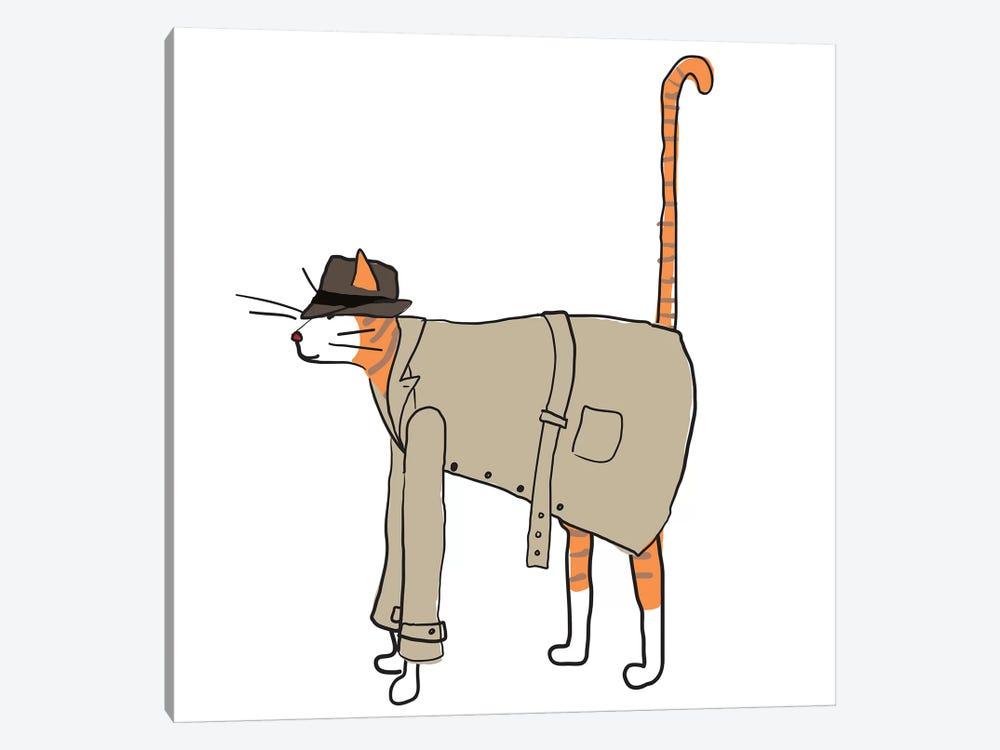 Detective Cat by Kris Ruff 1-piece Canvas Wall Art