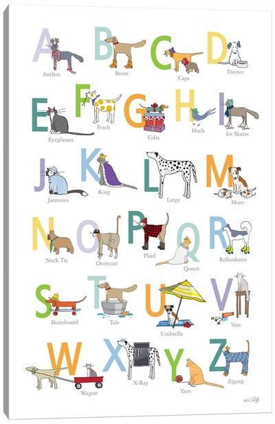 ABC Cats Dogs Canvas Art Print