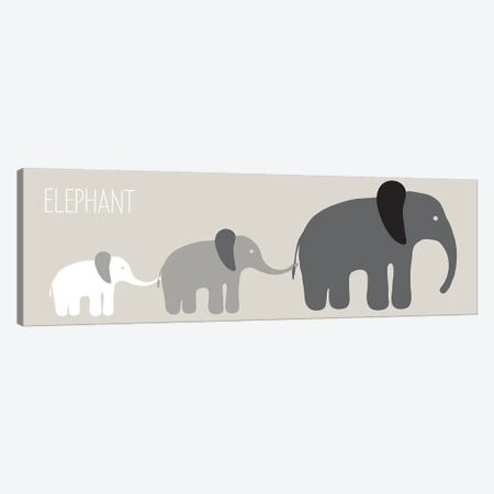 Elephant Parade Black Canvas Print #KRU24} by Kris Ruff Canvas Wall Art