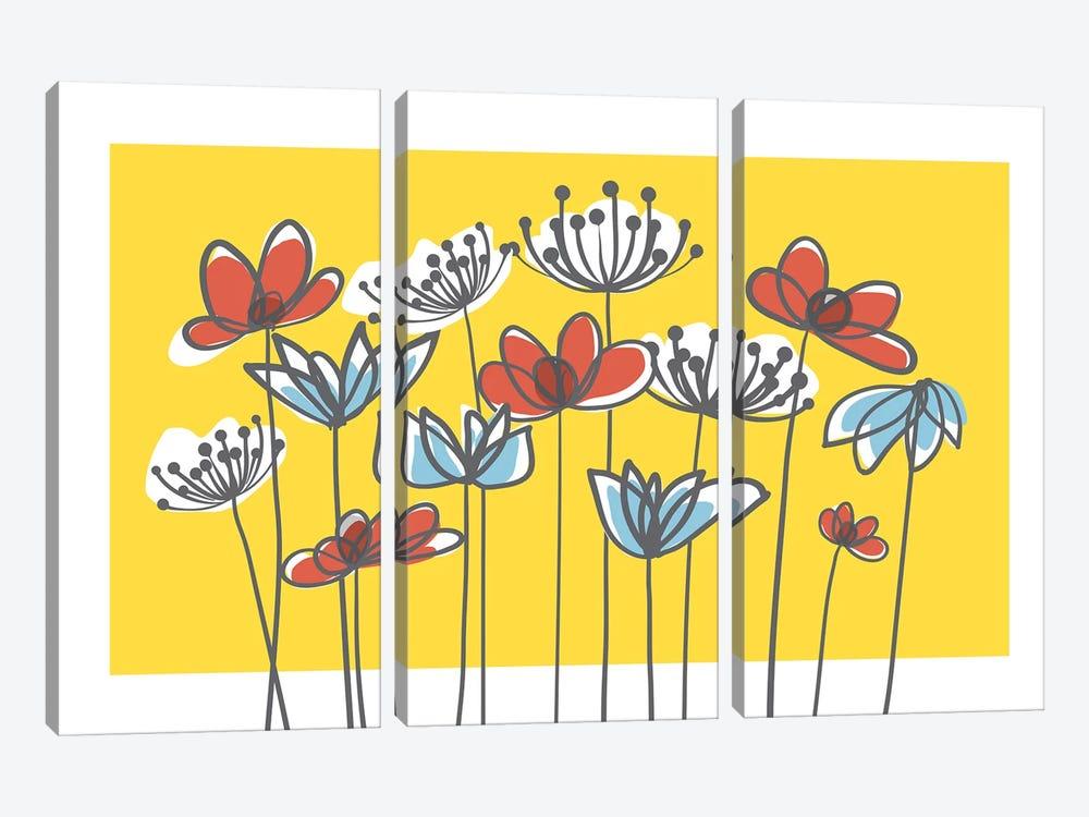 Jardin IV by Kris Ruff 3-piece Canvas Art