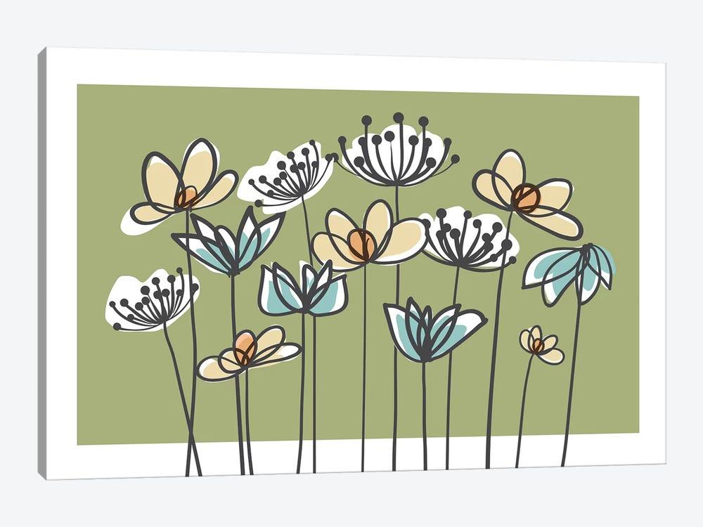 Jardin VII by Kris Ruff 1-piece Canvas Art Print