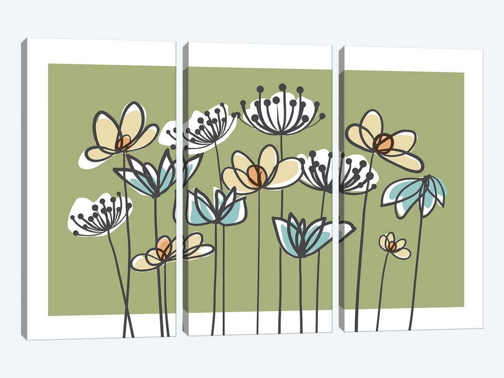 Jardin VII by Kris Ruff 3-piece Art Print