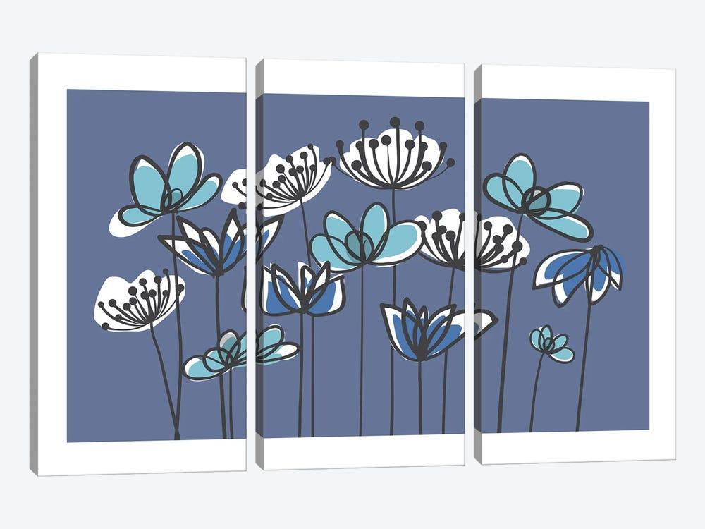 Jardin VIII by Kris Ruff 3-piece Canvas Print