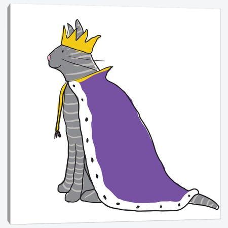King Cat Canvas Print #KRU48} by Kris Ruff Canvas Art Print
