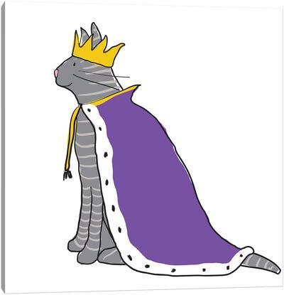 King Cat Canvas Art Print