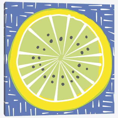Lemon Lime Canvas Print #KRU49} by Kris Ruff Art Print