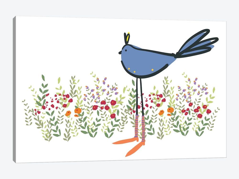 Bird in Garden by Kris Ruff 1-piece Canvas Print